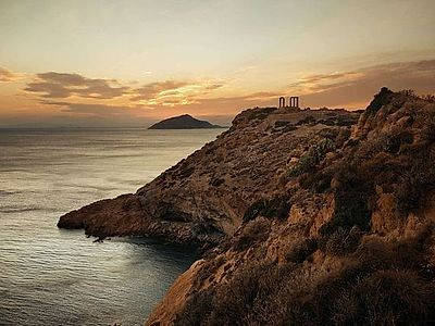 Cape Sounion and the Athens Riviera Sunset Small Group Tour