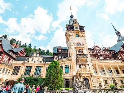 Bucharest by Private Transfer with a stop in Peles Castle