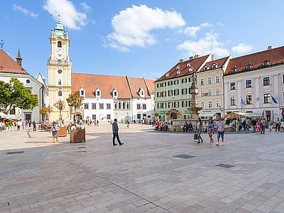 Upgrade to Vienna by Private Transfer with a Stop and Guided Tour in Bratislava
