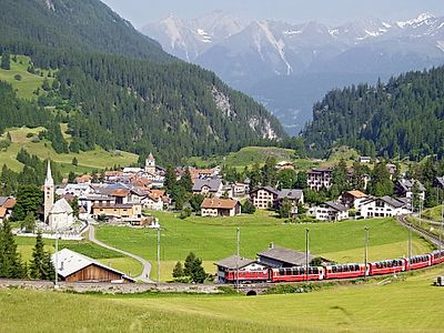 St. Moritz and Bernina Scenic Alpine Train Ride Private Tour