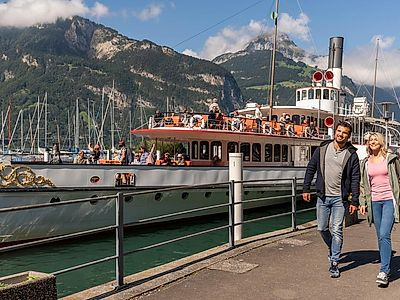 Lugano by the Gotthard Panoramic Express (boat ride & panoramic train)