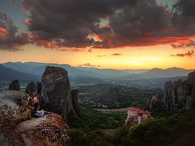 Majestic Meteora Sunset Group Tour