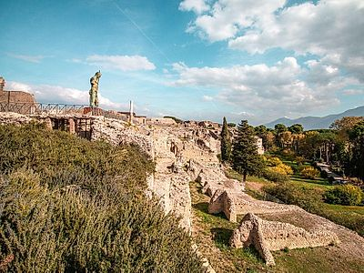 Private Excursion from Naples to Pompeii with Cooking Class and Wine Tasting on Mount Vesuvius
