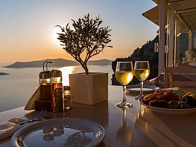 Santorini Sunset Small Group Food Adventure