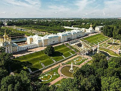 Pushkin and Peterhof's Lower Park Private Tour