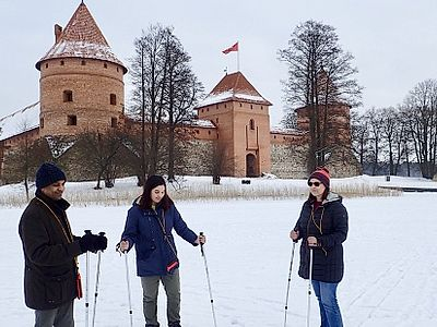 Trakai Snowshoe Hike Private Tour