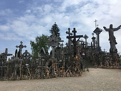 Klapeida by Private Transfer with Kernave and Hill of Crosses Stops