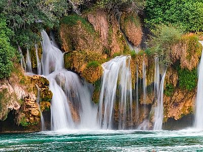 Trogir by Private Transfer with Sibenik and Krka Waterfalls Stops